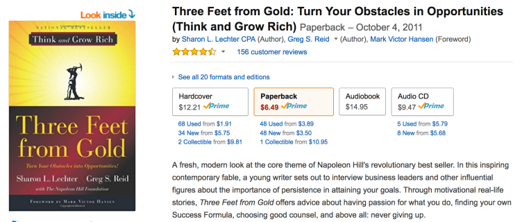 Three Feet from Gold is a great book.