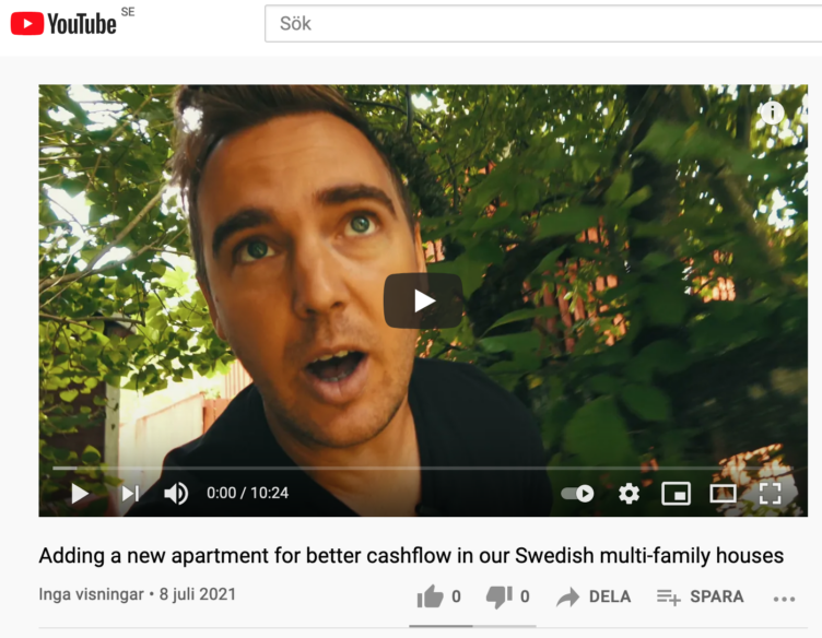 New video about expanding one of the multifamily houses with a new unit